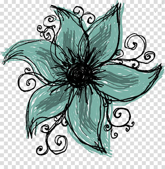 Turquoise and black flowers clipart image black and white stock Wonderful Days Scrapkit, white and black petaled flower ... image black and white stock