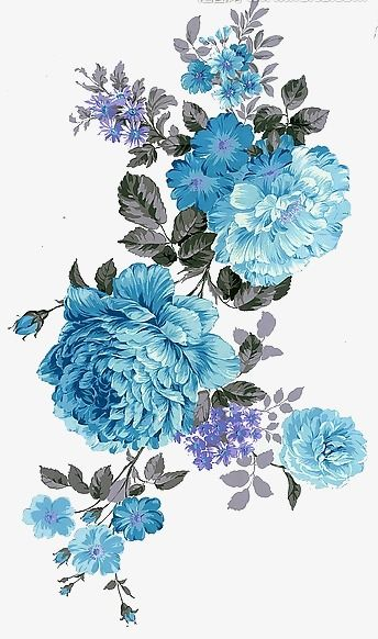 Turquoise and black flowers clipart clip library stock Flowers, Peony, Blue PNG Transparent Image and Clipart for ... clip library stock
