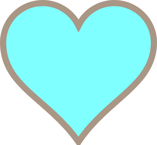 Turquoise heart clipart jpg transparent library Think Line Turquoise And Brown Heart Clip Art at Clker.com - vector ... jpg transparent library
