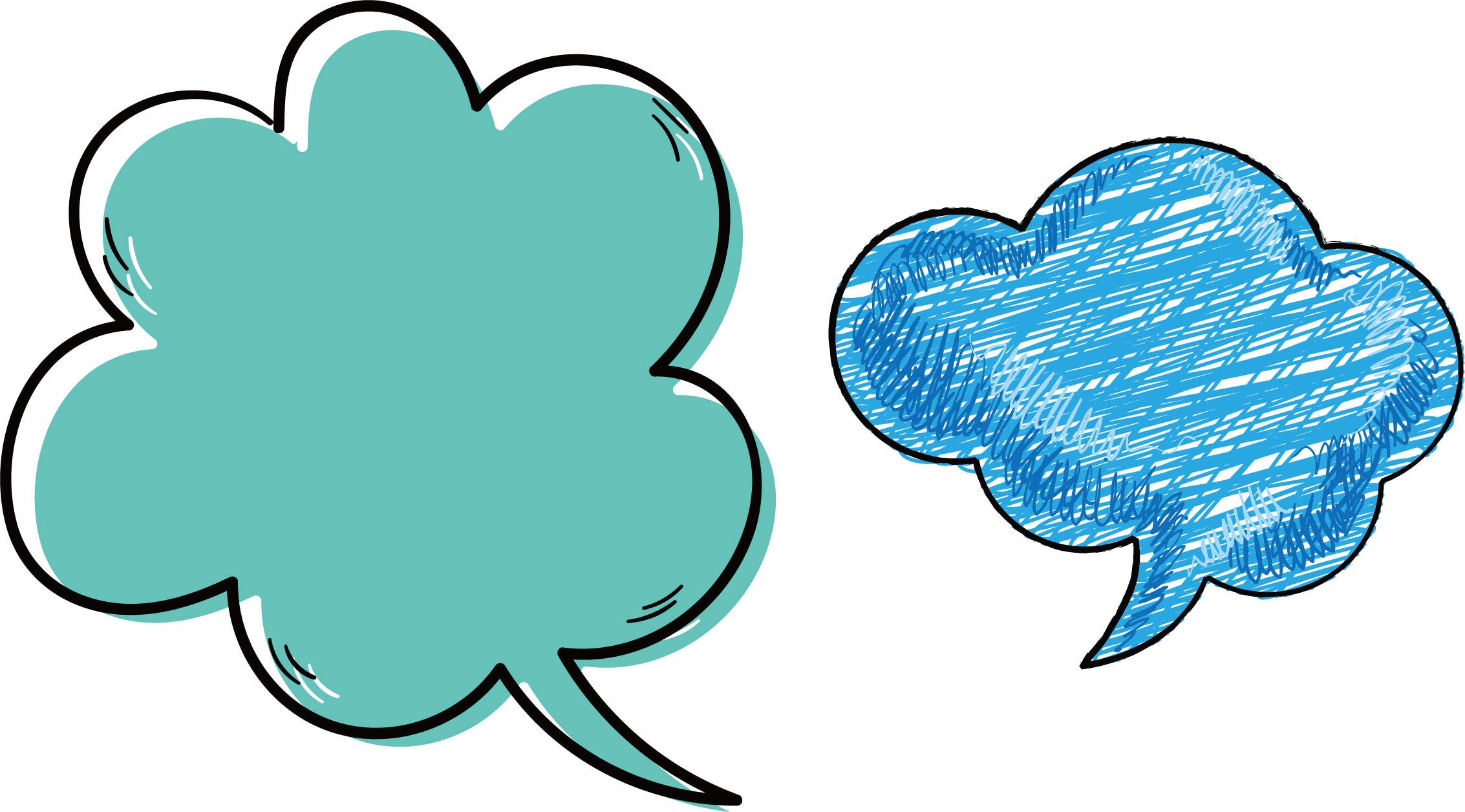 Turquoise heart clipart png royalty free download Adobe Illustrator Cartoon Clip art - Cute question box 2266*1256 ... png royalty free download