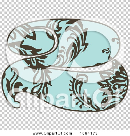 Turquoise number 1 clipart svg free library Clipart Brown And Turquoise Vintage Number 2 - Royalty Free Vector ... svg free library