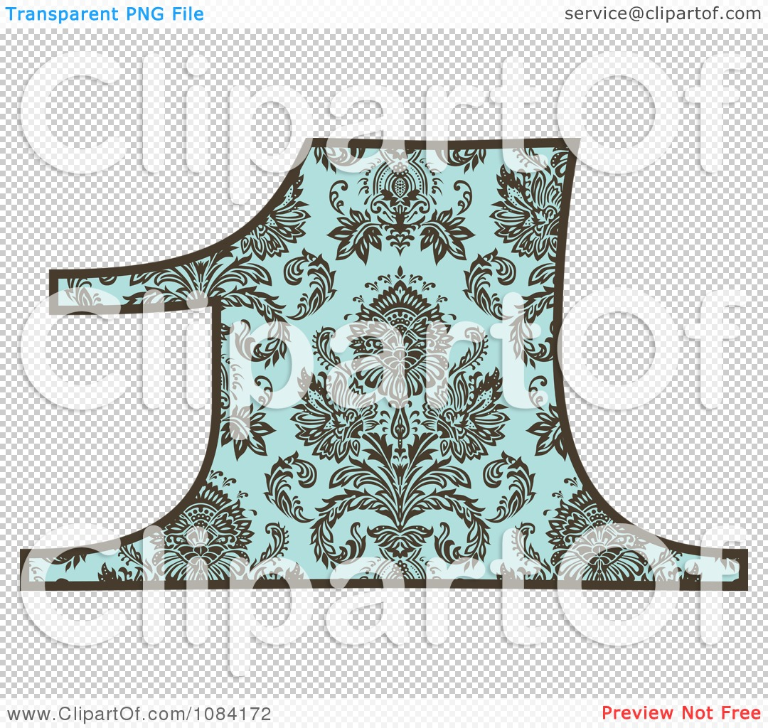 Turquoise number 1 clipart clip free library Clipart Brown And Turquoise Vintage Number 1 - Royalty Free Vector ... clip free library