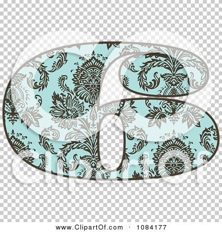 Turquoise number 1 clipart png transparent Clipart Brown And Turquoise Vintage Number 6 - Royalty Free Vector ... png transparent