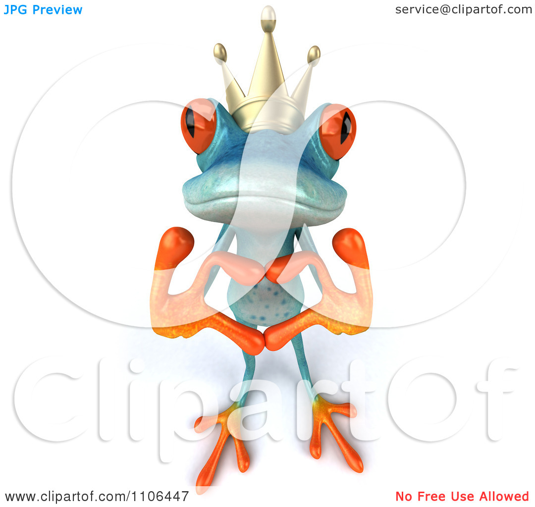 Turquoise number 1 clipart banner royalty free download Clipart 3d Turquoise Springer Frog Prince Wearing A Crown And ... banner royalty free download