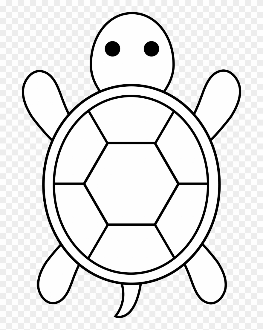 Turtle clipart easy banner Weird Easy Coloring Pages For Boys Turtle Applique - Easy ... banner
