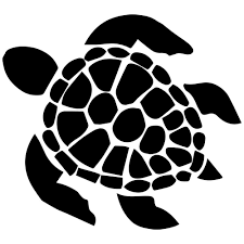 Turtle clipart silhouette graphic black and white library sea turtle clipart - Google Search | Cricut | Turtle outline ... graphic black and white library