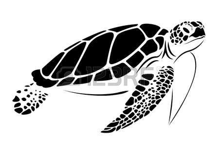 Turtle clipart silhouette png free download Sea Turtle Clipart olive ridley 16 - 450 X 315 | Cricut Air ... png free download