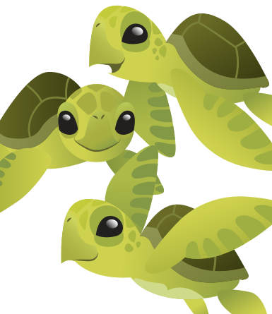 Turtle hatchling clipart picture download Cute Baby Sea Turtles- vector | Turtles | Hawaiian sea ... picture download