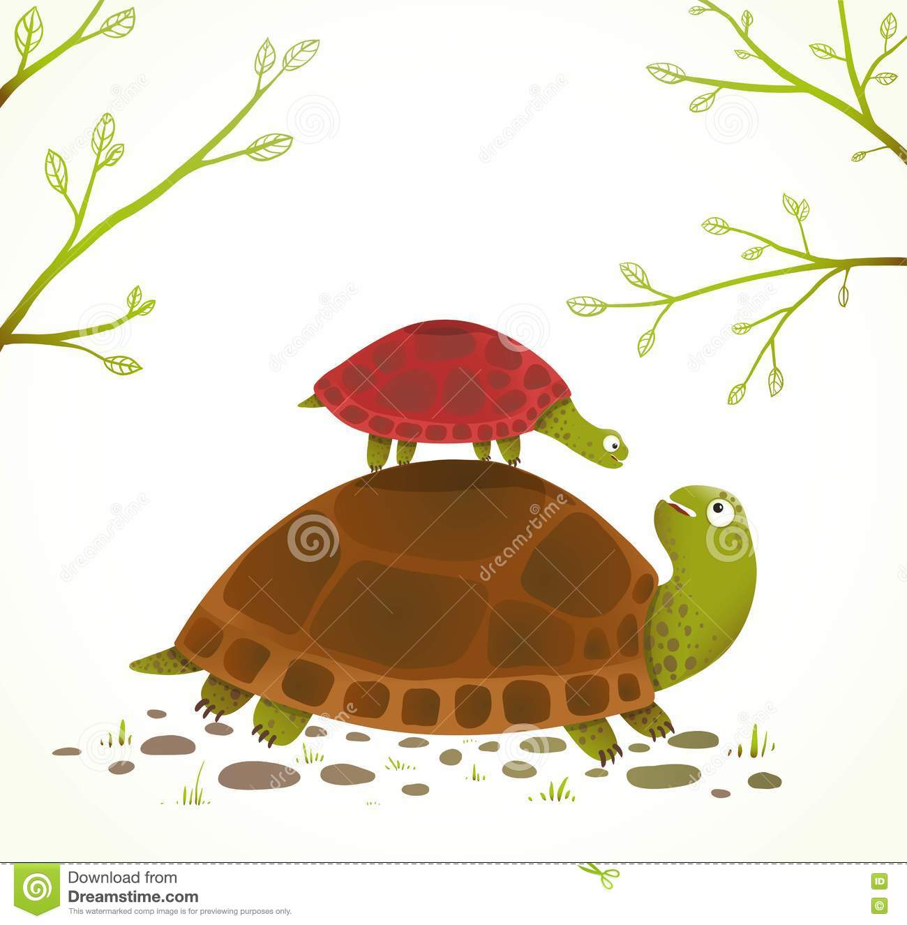 Turtle mama and baby clipart image black and white stock Turtle mama and baby clipart - ClipartFest image black and white stock