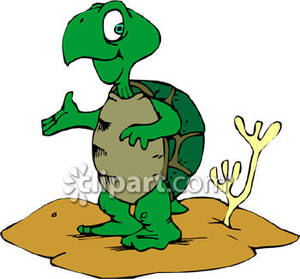 Turtle secretary clipart vector Cartoon Turtle In the Desert - Royalty Free Clipart Picture vector