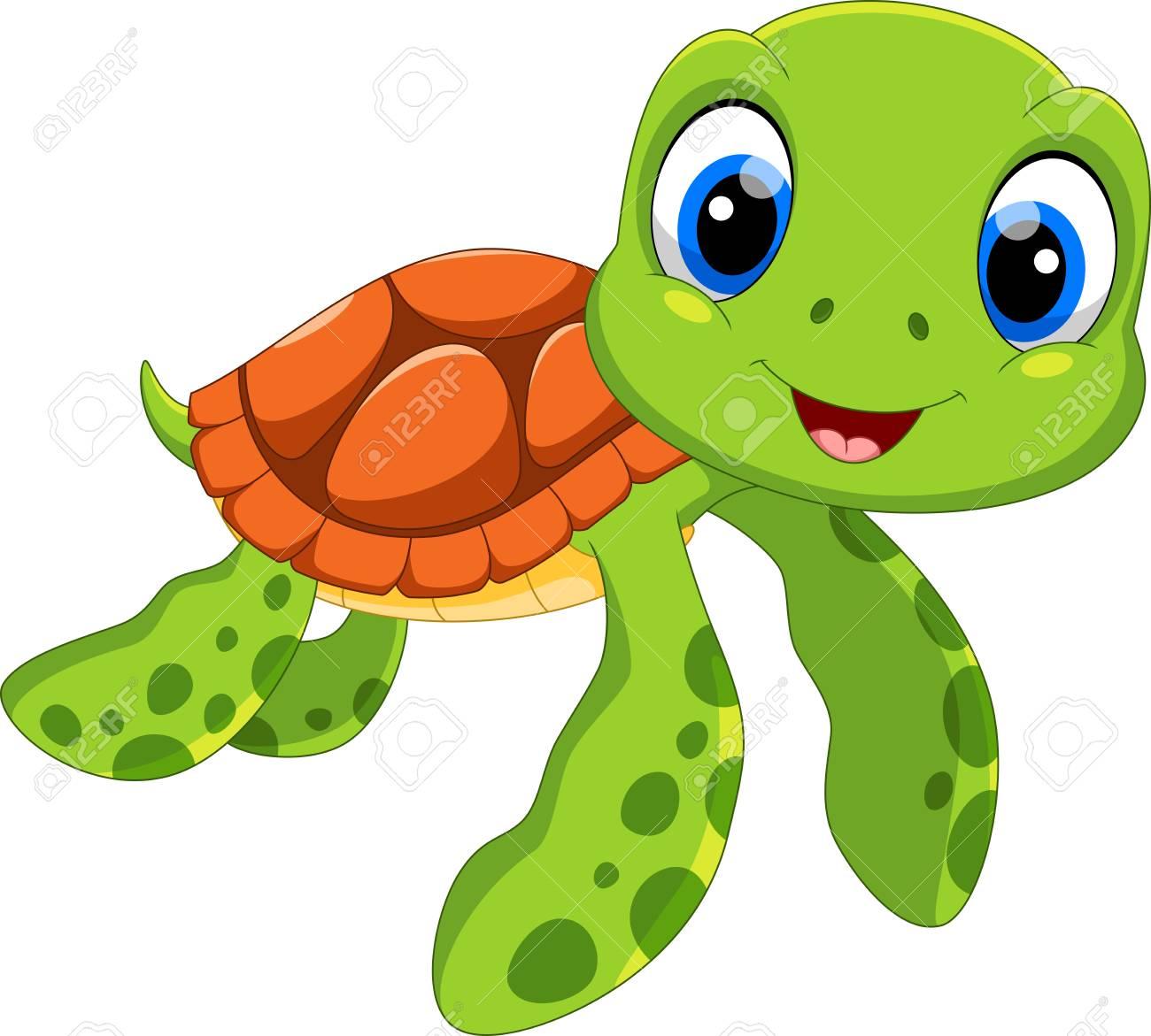 Turtle secretary clipart black and white Sea turtle cartoon clipart 1 » Clipart Station black and white