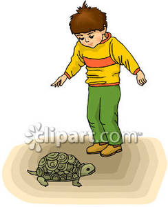 Turtle secretary clipart jpg free stock Little Boy With A Pet Turtle - Royalty Free Clipart Picture jpg free stock