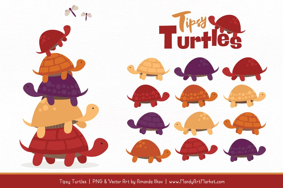 Turtle stack clipart clipart free download Autumn Turtle Stack Clipart clipart free download