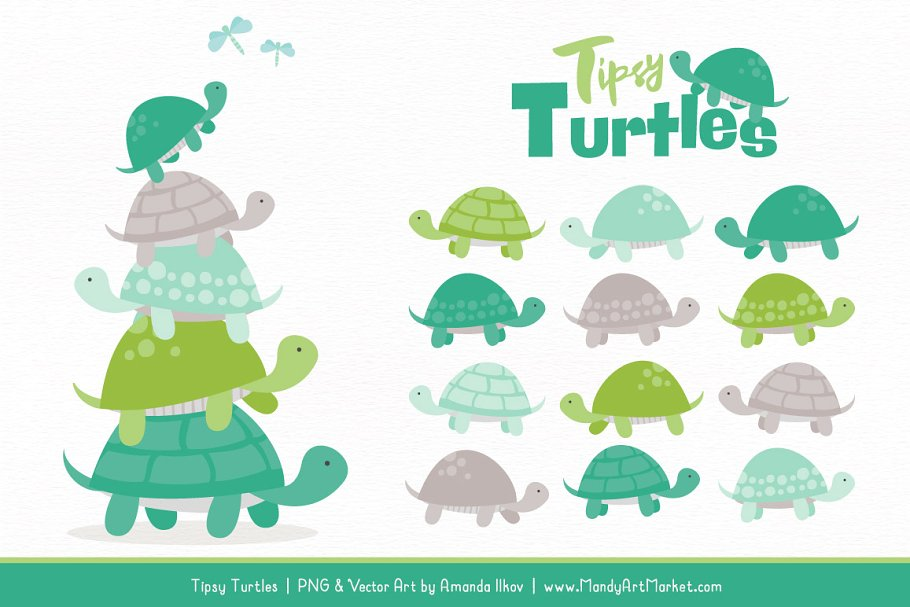 Turtle stack clipart svg download Emerald Isle Turtle Stack Clipart svg download