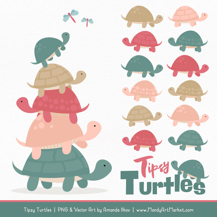 Turtle stack clipart image royalty free library Soft Christmas Turtle Stack Clipart Vectors image royalty free library