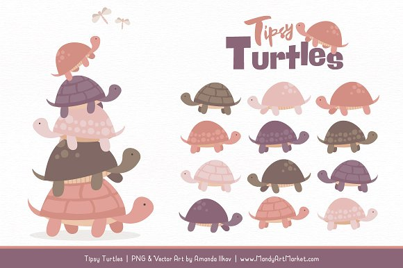 Turtle stack clipart image royalty free download Buff Turtle Stack Clipart image royalty free download