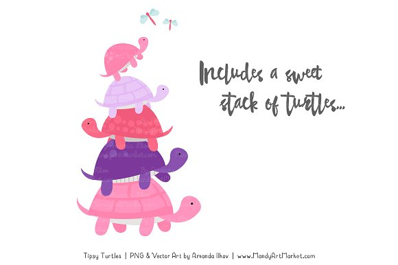 Turtle stack clipart jpg royalty free download Download Free png Pink & Purple Turtle Stack Clipart ... jpg royalty free download
