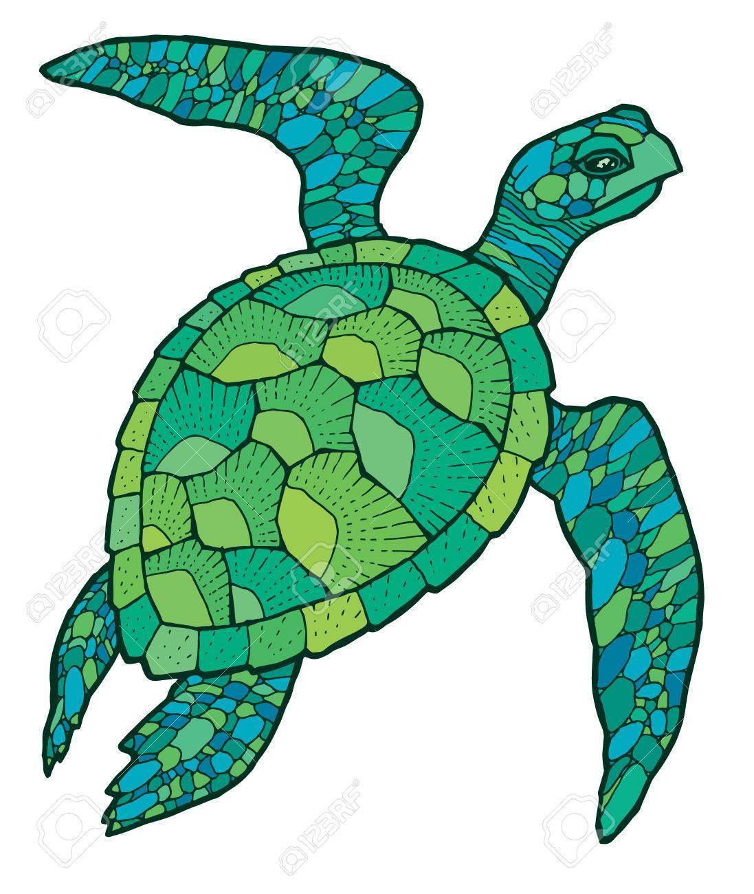 Turtle vector clipart transparent stock Sea turtle – vector stylized drawing » Clipart Portal transparent stock