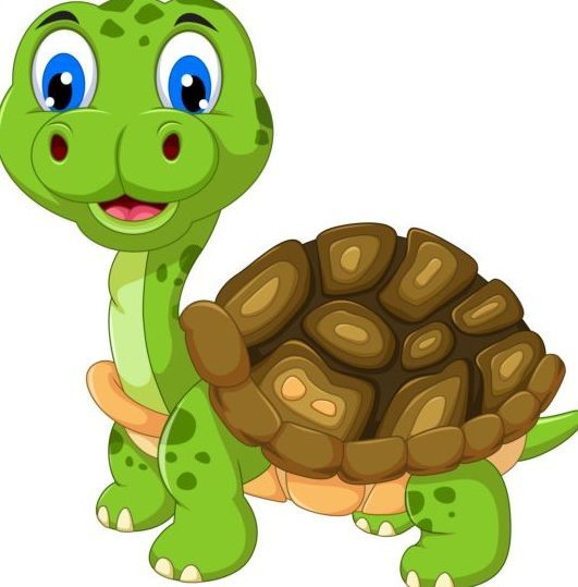 Turtle with big eyes clipart