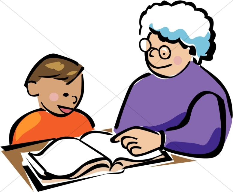 Tutoring clipart free clip freeuse stock Child and Tutor | Homeschool Clipart clip freeuse stock