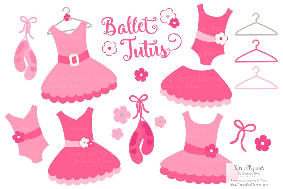 Tutus clipart free jpg transparent library Hot Pink Ballet Tutus Clipart jpg transparent library