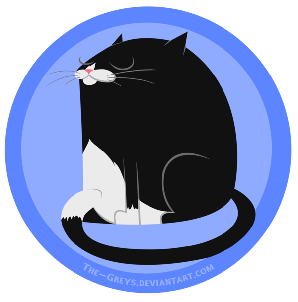 Tuxedo cat with wings clipart banner free download Animal Sticker - Tuxedo Cat by The-Greys on DeviantArt banner free download