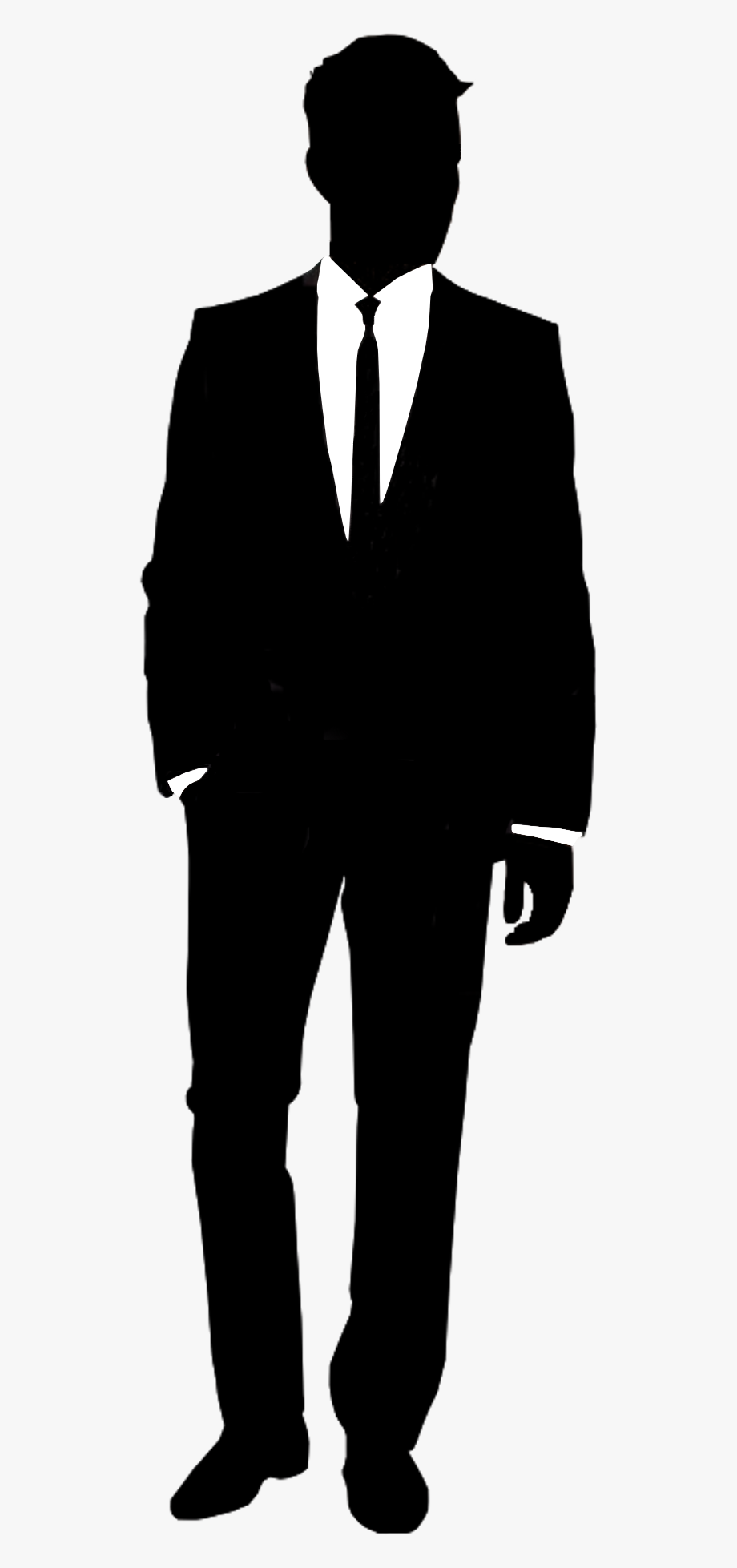 Tuxedo man clipart clipart royalty free library Suit Silhouette Shirt Informal Attire - Silhouette Man In ... clipart royalty free library