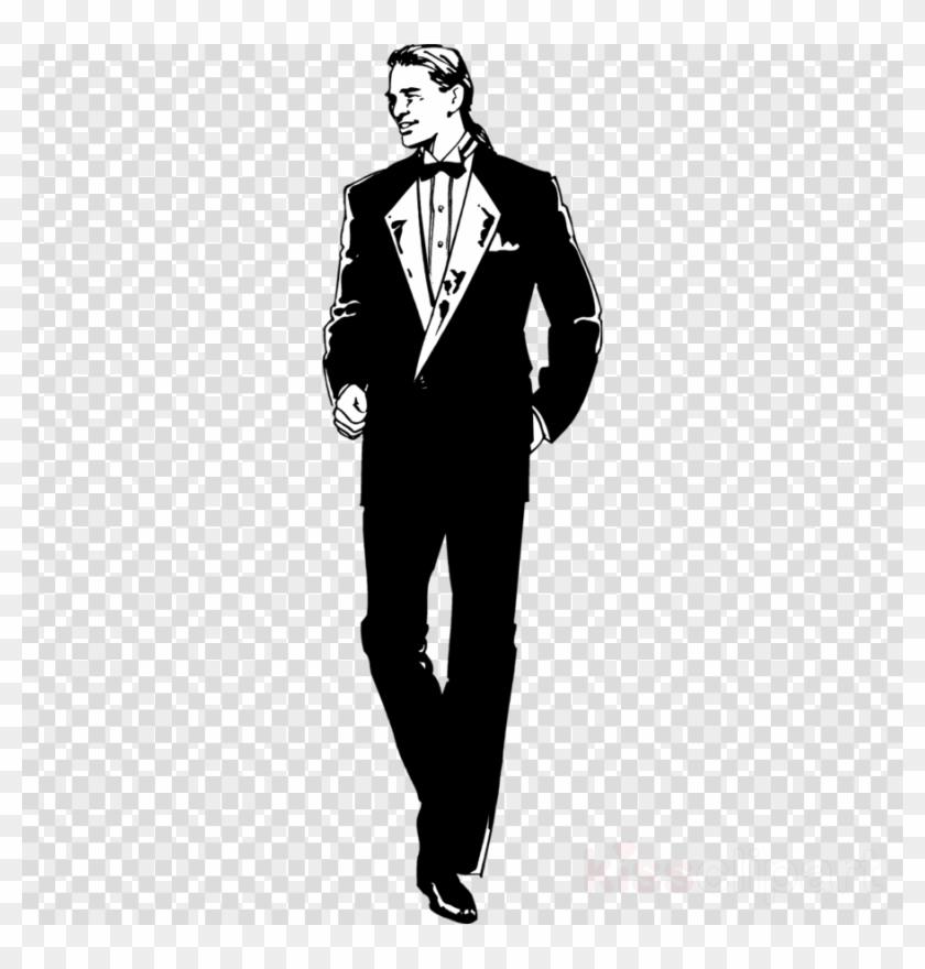 Tuxedo man clipart banner black and white Download Guy In A Tux Clip Art Clipart Tuxedo Clip - Kylie ... banner black and white