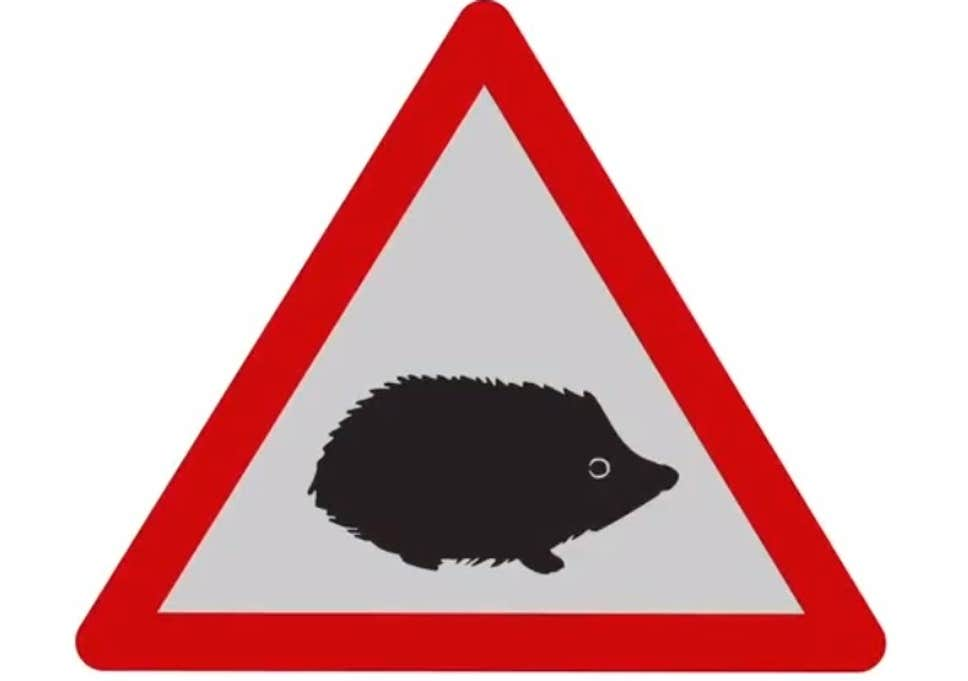 Big road by water clipart clip freeuse download New hedgehog road sign launched to warn drivers of small ... clip freeuse download