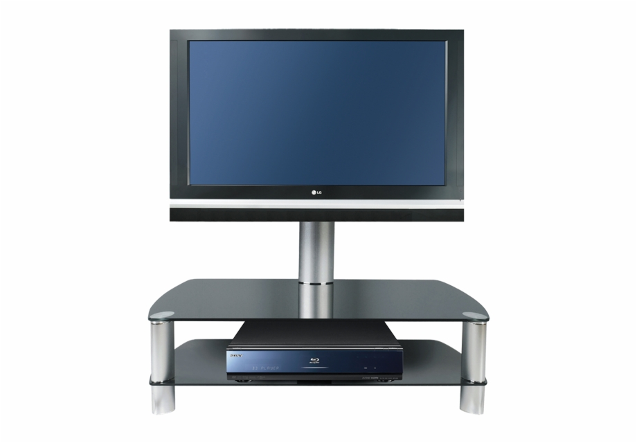 Tv on stand clipart svg library download Stil Stand Swivel Black Glass Cantilever Tv Stand Upto - Led ... svg library download