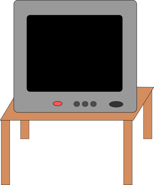 Tv on stand clipart clipart free Television On A Table Clip Art at Clker.com - vector clip ... clipart free