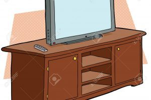 Tv on stand clipart image black and white stock Tv stand clipart 6 » Clipart Portal image black and white stock