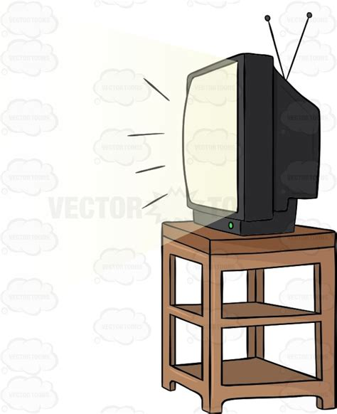 Tv on stand clipart png stock Cartoon TV Stand - Brine png stock