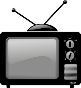 Tv static clipart free stock Old Television clip art - vector clip art online, royalty ... free stock