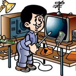Tv technician clipart