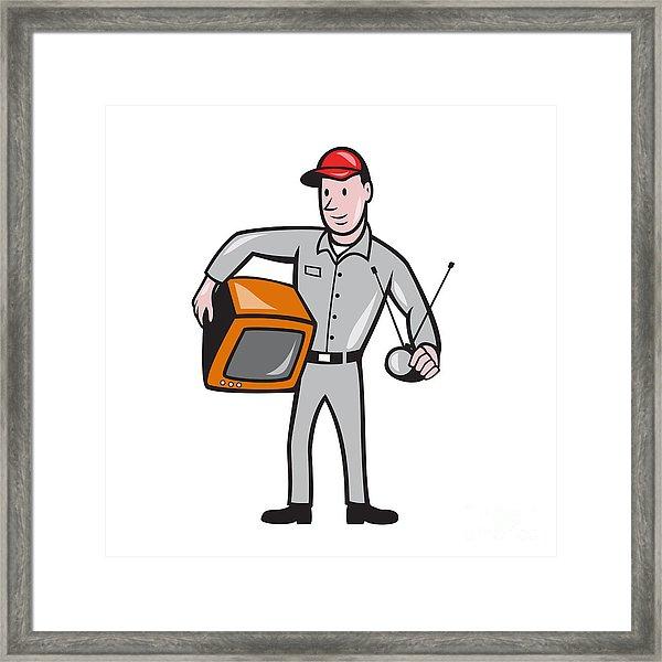 Tv technician clipart png library stock Tv Repairman Technician Cartoon by Aloysius Patrimonio png library stock