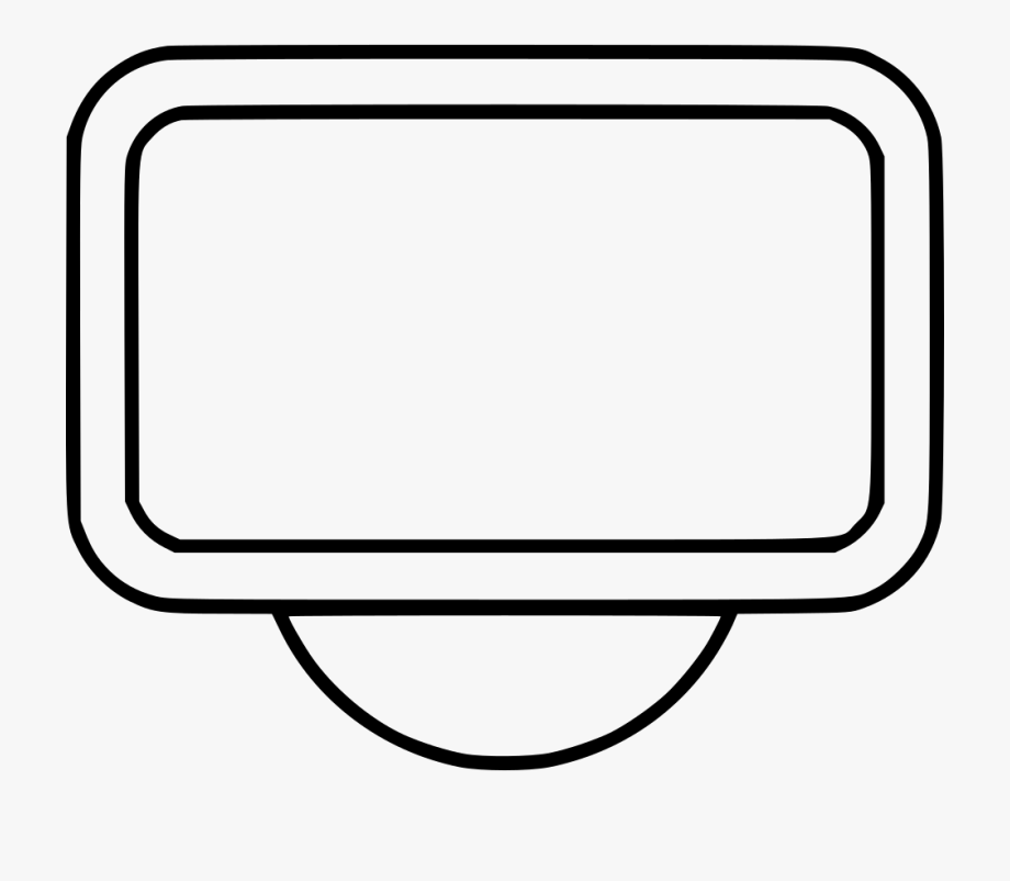 Tv wall clipart svg free Clipart Tv Wall Mounted Tv - Line Art #925400 - Free ... svg free