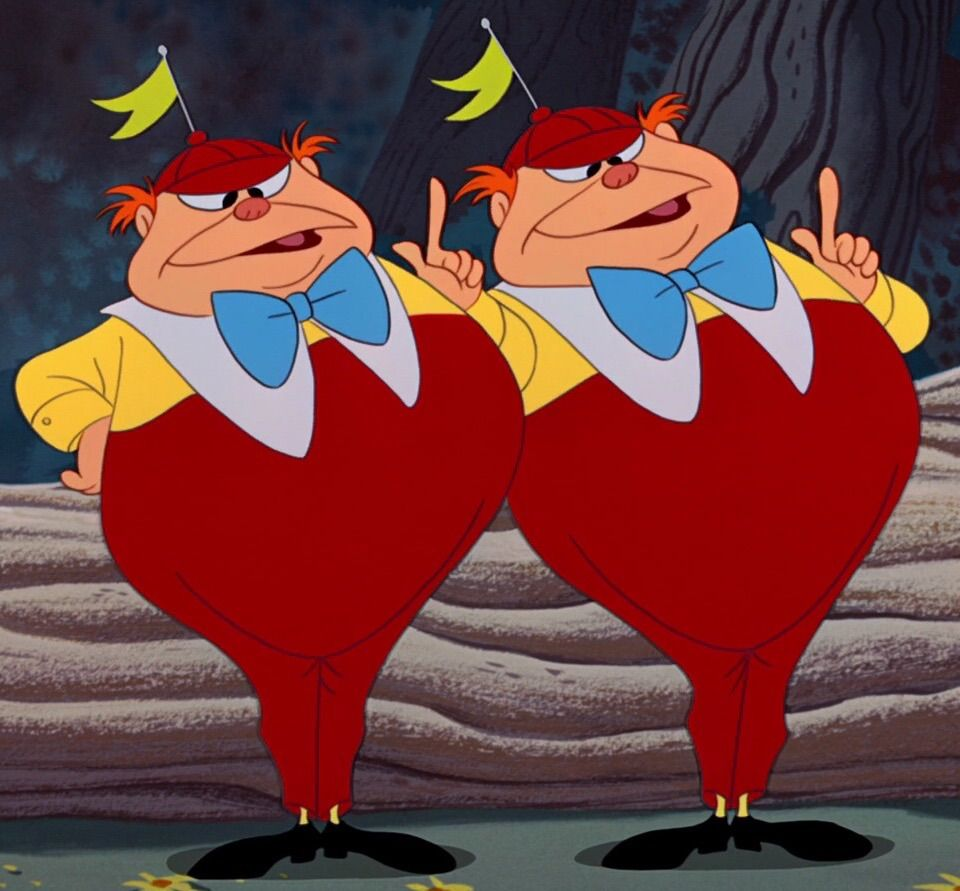 Tweedle dee clipart svg royalty free library Tweedle Dee and Tweedle Dum | Alice | Alice in wonderland ... svg royalty free library