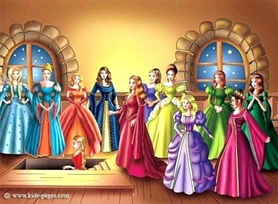 Twelve dancing princesses clipart png free download barbie and the 12 dancing princesses coloring pages ... png free download