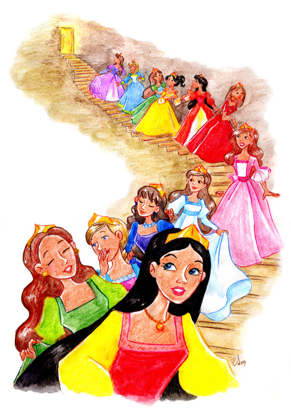 Twelve dancing princesses clipart free stock Once upon a time: 12 Dancing Princess - Clip Art Library free stock
