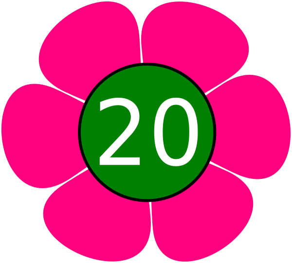 Twenty clipart picture freeuse stock Flower 20 Clip Art at Clker.com - vector clip art online ... picture freeuse stock