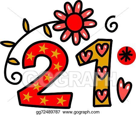 Twenty clipart jpg stock Stock Illustration - Number twenty one doodle text. Clipart ... jpg stock