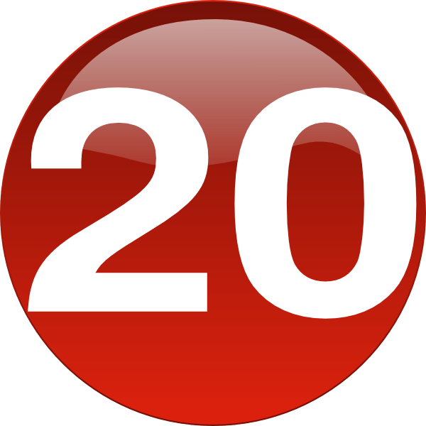 Twenty clipart picture transparent stock Number 20 Clipart | Free download best Number 20 Clipart on ... picture transparent stock