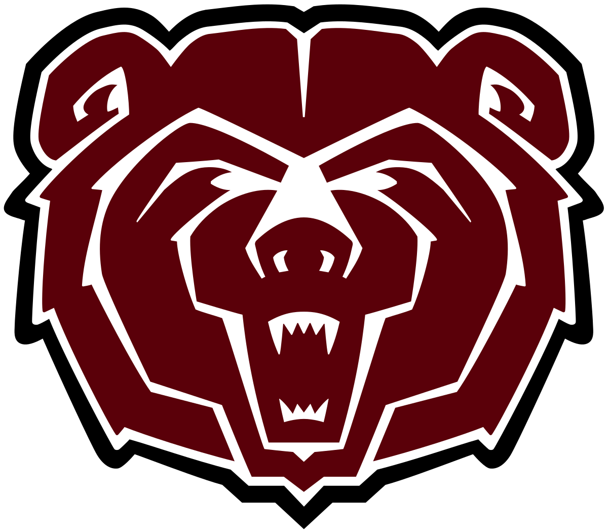 Twin valley football clipart svg black and white stock Missouri State Bears and Lady Bears - Wikipedia svg black and white stock