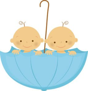 Twins images clipart png black and white Fraternal Twins Clipart | Free Images at Clker.com - vector ... png black and white