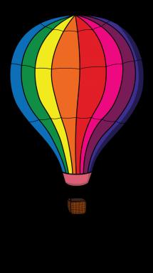 Twins floting down in hotair bollon clipart clip art download Hot Air Balloon step 7 | Chalk Drawing | Hot air balloon ... clip art download