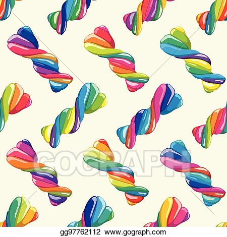 Twist candy wrap clipart clipart black and white library Vector Art - Vector seamless pattern of twisted lollies ... clipart black and white library
