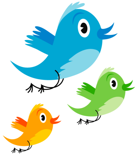 Twitter bird clipart free black and white download Free Cute Twitter Birds Clipart and Vector Graphics - Clipart.me black and white download