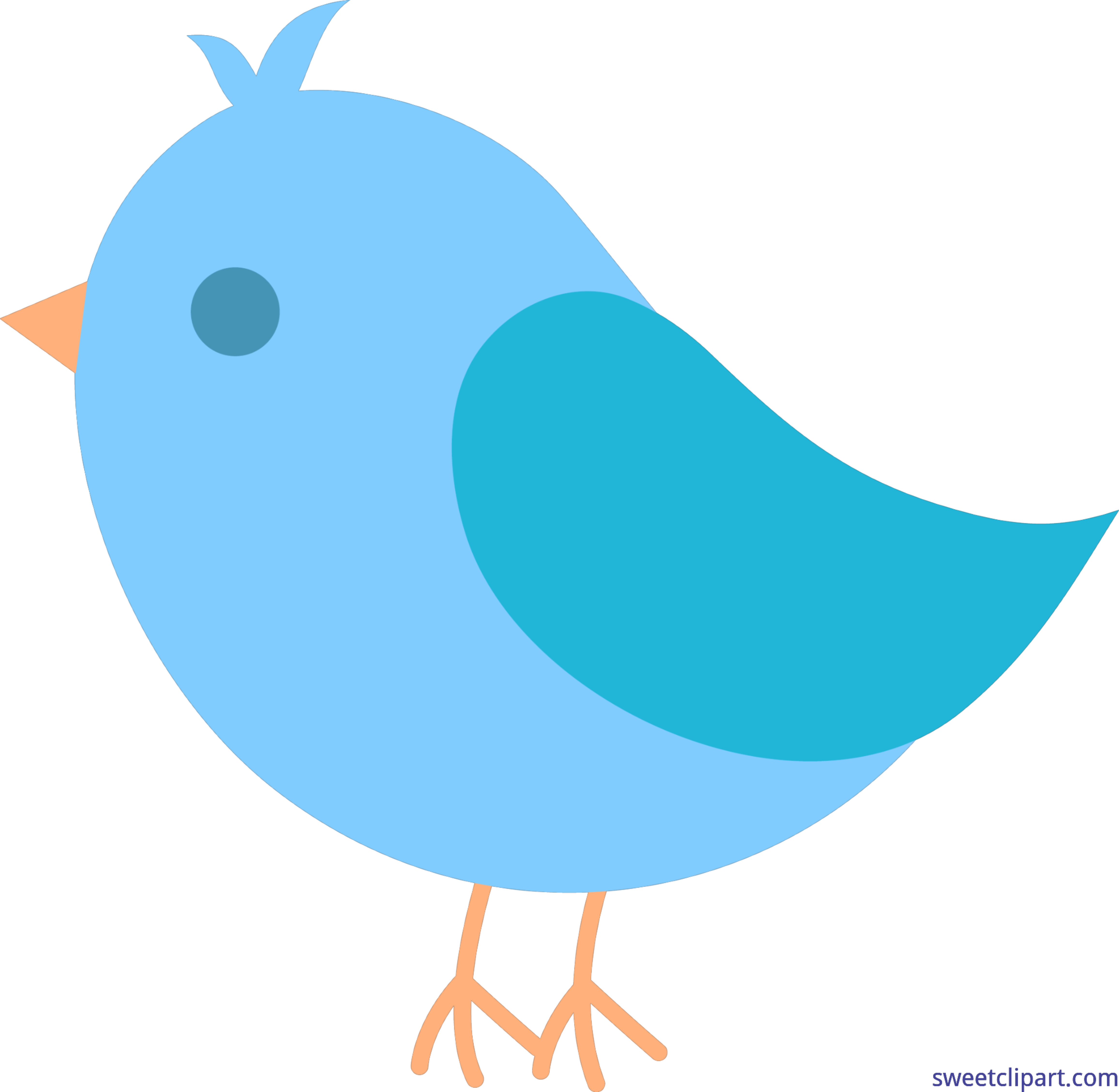Twitter clipart bird clip royalty free download Cute Blue Bird Clip Art - Sweet Clip Art clip royalty free download