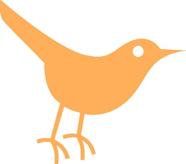Twitter clipart bird transparent stock Light Orange Twitter Bird Icon Clip Art at Clker.com - vector clip ... transparent stock